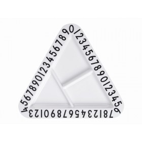 DESIGN LETTERS Melamine Triangular Snackplate