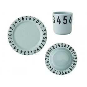 DESIGN LETTERS melamine tableware giftbox green