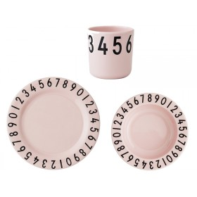 DESIGN LETTERS melamine tableware giftbox pink