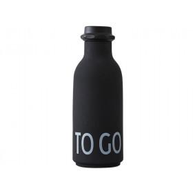 DESIGN LETTERS Trinkflasche To Go (schwarz)