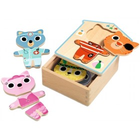 Djeco Wooden Puzzle DRESS UP MIX
