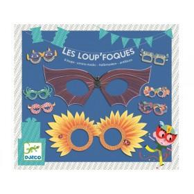 Djeco Partyware - Masks - Les loup'foque