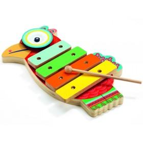 Djeco Animambo Xylophone & Cymbal PARROT