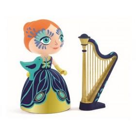 Djeco Arty Toys Princess Elisa with harp