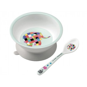 Petit Jour Melamine Baby Bowl and Spoon ELMAR