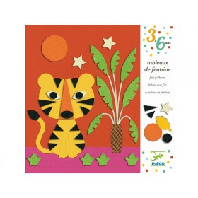 Djeco 3-6 Design Felt Pictures - Sweet Nature