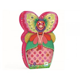 Djeco Silhouette Puzzle: The Butterfly Lady