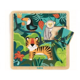 Djeco Wooden Puzzle JUNGLE ANIMALS