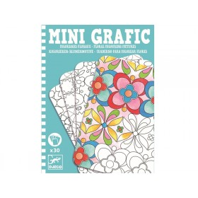 Djeco mini grafic Floral Colouring Picture