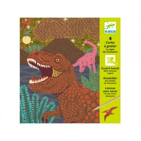 Djeco Scratch Boards When Dinosaurs reignet