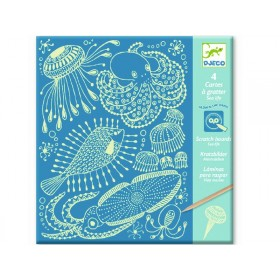 Djeco Scratch Boards SEA ANIMALS