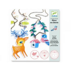 Djeco magic plastic Fawn and bird jewels