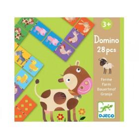 Djeco learning game Domino FARM ANIMALS