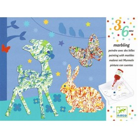 Djeco Painting with marbles: Colourful parade