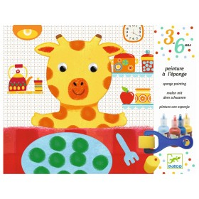 Djeco Sponge Painting Cuddly Toy Adventures