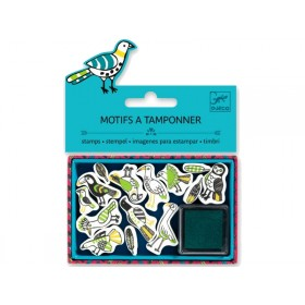 Djeco Stamp set BIRDS AND FETHERS