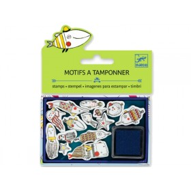 Djeco Stamp set FUNNY FISHES