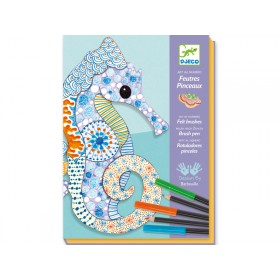 Djeco Felt brushes motif art Animals