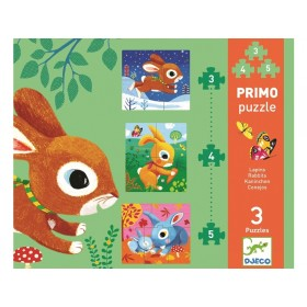 Djeco First Puzzle RABBITS