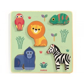Djeco Relief Puzzle SAVANNAH ANIMALS