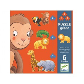 Djeco giant puzzle Marmoset and friends