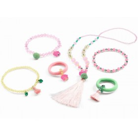 Djeco Kids Jewellery Set JEWELS POMPOMS & STARS