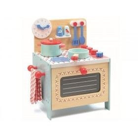 Djeco Play Kitchen STOVE blue