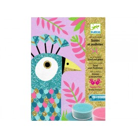 Djeco Coloured Sand and Glitter Dazzling Birds