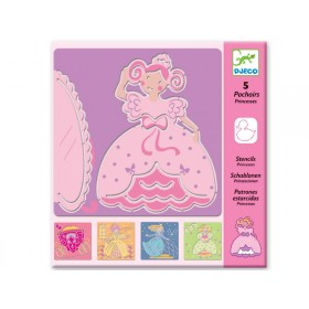 Djeco stencils princesses
