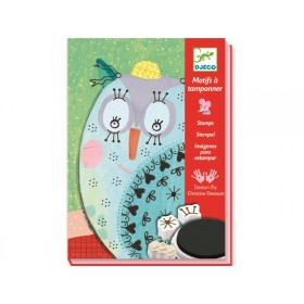 Djeco Stamp Set Fur and Feather
