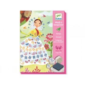 Djeco Stamp Set Flower Maidens