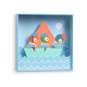 Djeco wall picture Penguins Small