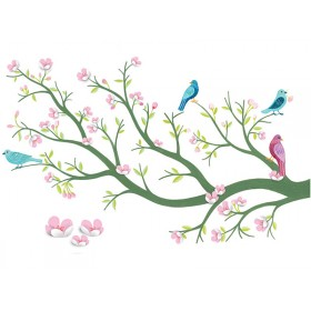 Djeco wall stickers cherry tree in bloom