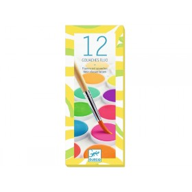 Djeco 12 Watercolour Palette NEON