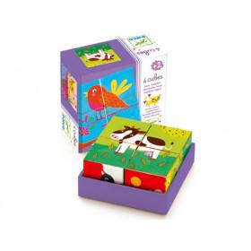 Djeco puzzle colourful farm