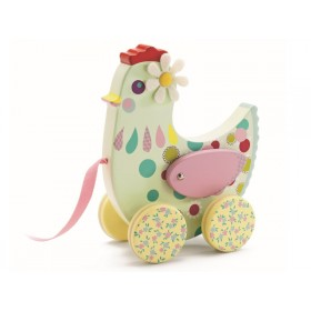 Djeco pull along toy hen Cotcotte