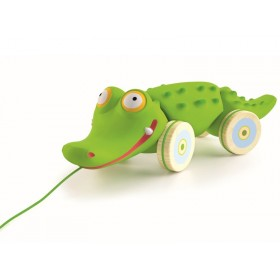 Djeco pull along toy crocodile Croc'n'roll