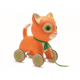 Djeco pull along toy cat Mila