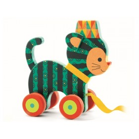 Djeco pull along toy cat Neko
