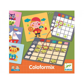 Djeco Eduludo Learning Game COLOFORMIX