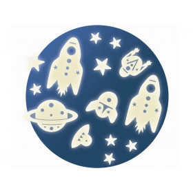 Djeco Noctilucent Wall Stickers SPACE MISSION