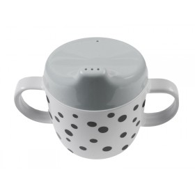 Done by Deer happy dots 2 handle cup grey