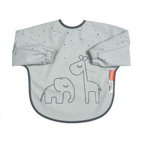 Done by Deer Sleeved Bib DREAMY DOTS 6-18 m grey
