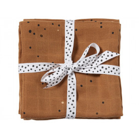 Done by Deer Burp Cloth 2-pack DREAMY DOTS ochre
