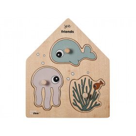 Done by Deer Wooden puzzle SEA FRIENDS