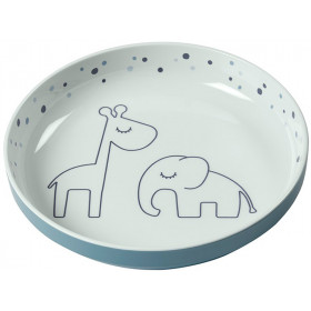 Done by Deer Plate DREAMY DOTS blue