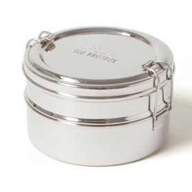 ECO Brotbox stainless steel TIFFIN DOUBLE