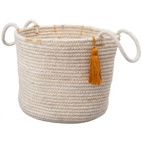 Fabelab Rope Storage Basket OCHRE