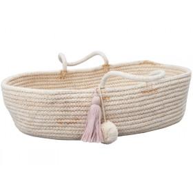Fabelab Rope Doll Basket MAUVE