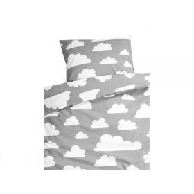 Färg&Form Bedding Moln clouds grey